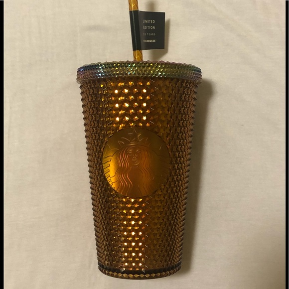 50th Anniversary Starbucks Honeycomb/Gold Tumbler